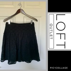 Loft Outlet Black Lace Skirt
